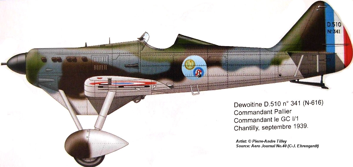 Dewoitine D.510 commander of GC I / 1 1939